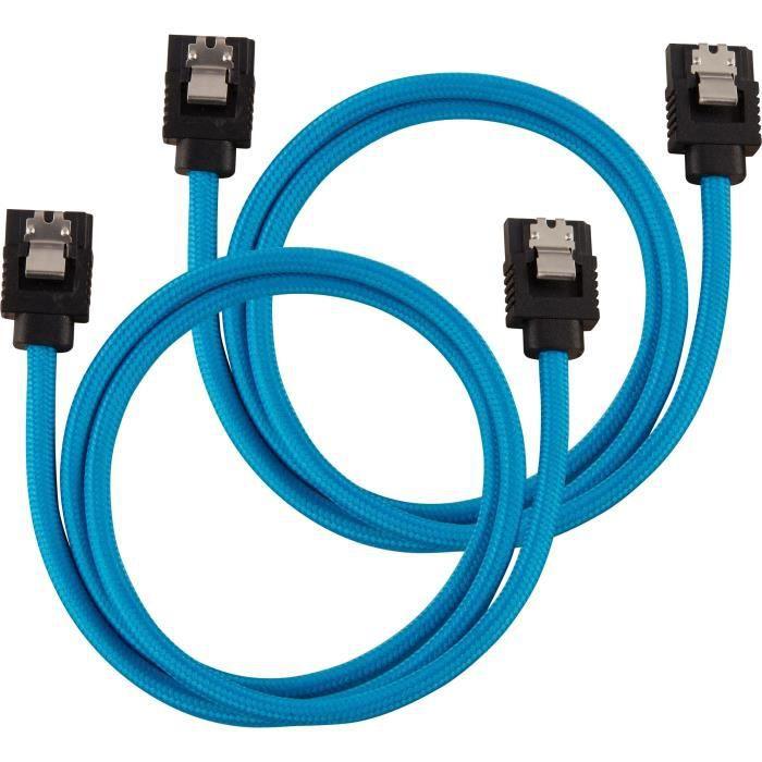 connecteur /à 90/° SATA 6Gbps 60 cm blanc C/âble SATA gain/é CORSAIR Premium