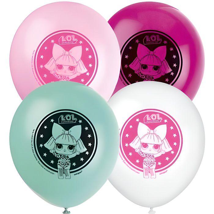 """12/"""" Latex Joyeux anniversaire Décorations de fête filles rose 8 LOL surprise ballons"""