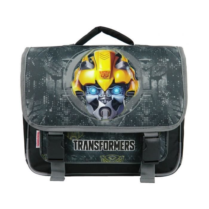 Cartable 38 CM Noir-Transformers