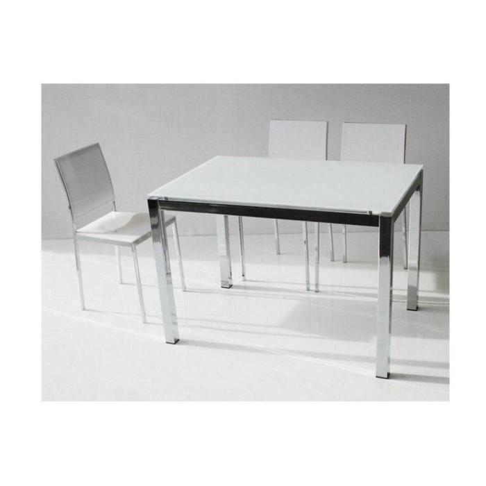 table repas extensible majestic 130 x 80 cm en achat vente table a manger seule table. Black Bedroom Furniture Sets. Home Design Ideas