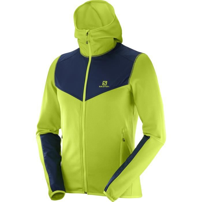 Alp Fleece Achat Mid Vente X Polaire Salomon Hooded Fz Vert EW2DHIY9