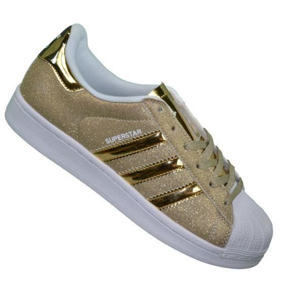 ADIDAS Baskets Superstar Paillettes Or Blanc OR BLANC