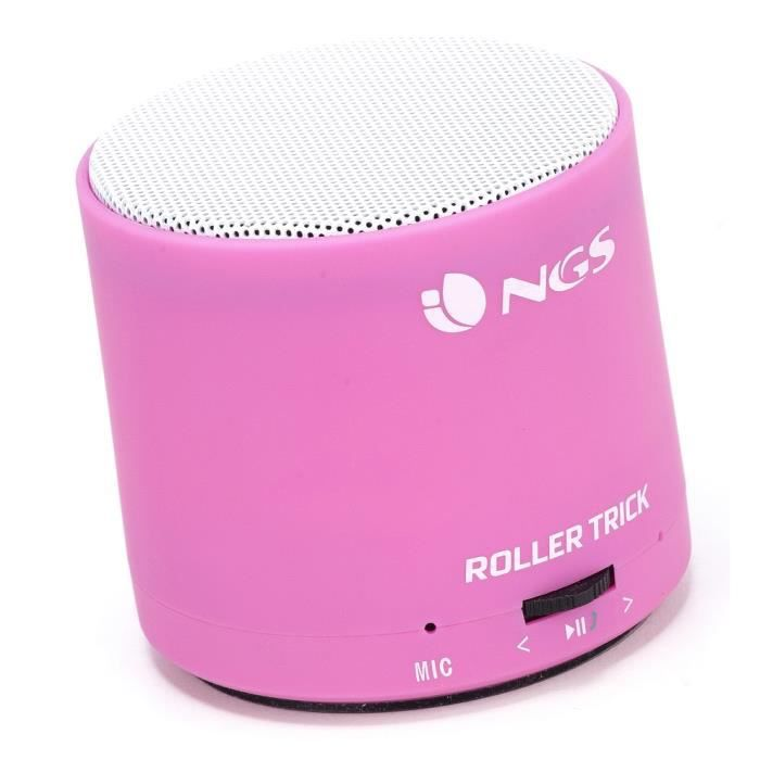 mini enceinte bluetooth ngs rollertrick pink prix pas cher cdiscount. Black Bedroom Furniture Sets. Home Design Ideas