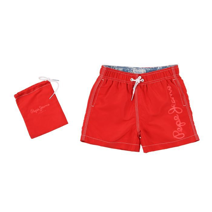 pepe jeans maillot de bain guido enfant gar on rouge. Black Bedroom Furniture Sets. Home Design Ideas
