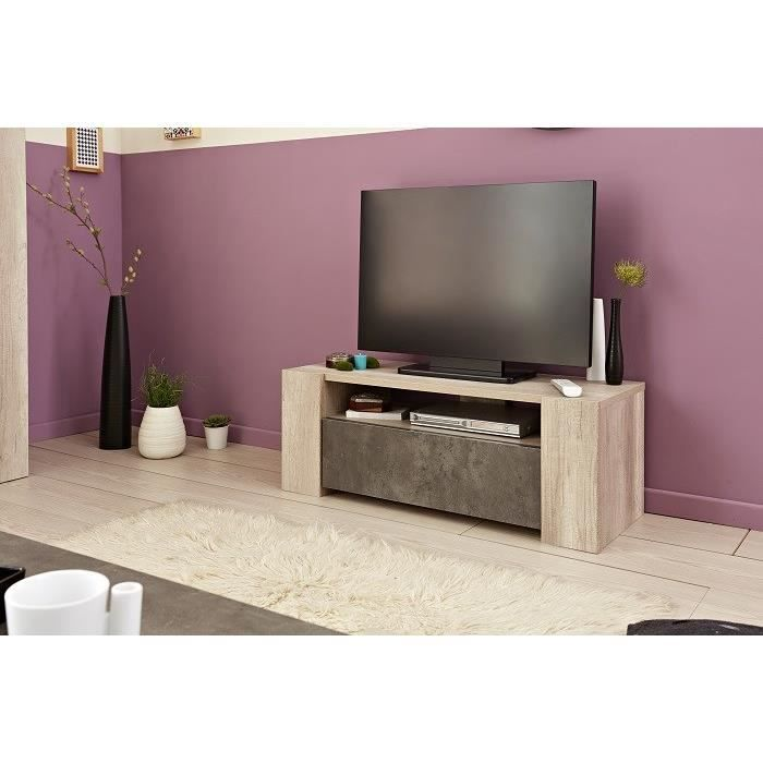 meuble tv swithome strike beige b ton achat vente. Black Bedroom Furniture Sets. Home Design Ideas
