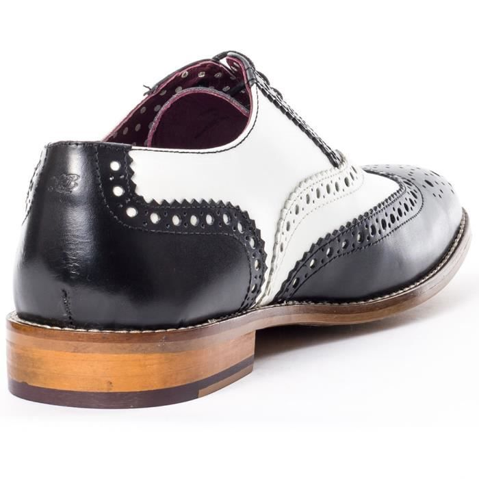 London Brogues Handcrafted Hommes Derbies Black White - 11 UK oDnA0Q