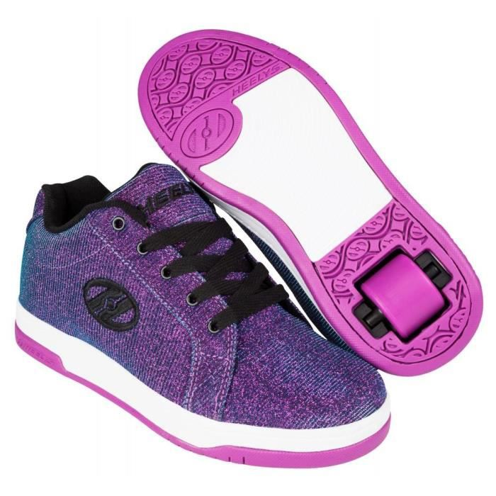 Heelys - Chaussures à Roulettes - Split Glitter in Purple-36.5.