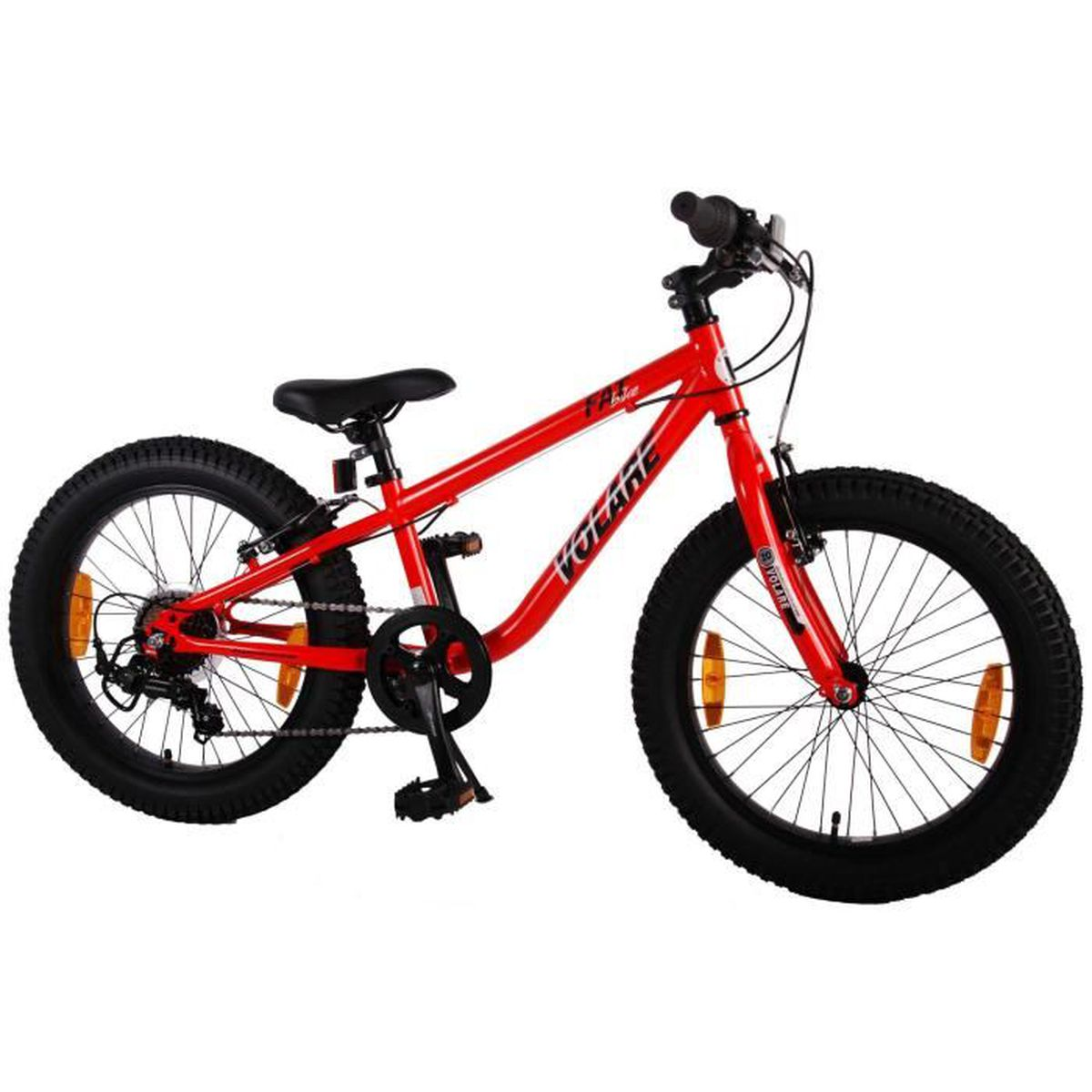 cyclo vel vtt enfant avec des pneus de 20 pouces extra large avec shimano 7 vitesses d 39 orange. Black Bedroom Furniture Sets. Home Design Ideas