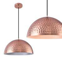 Lampe à suspension métal cuivré blanc
