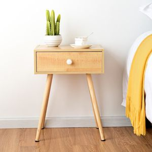 CHEVET Table de Chevet en Bois Scandinave laqué satiné av