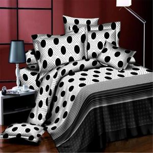 acheter parure lit noir et blanc table de lit. Black Bedroom Furniture Sets. Home Design Ideas