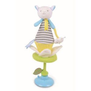 Doudou et Compagnie Mon Doudou Attache Sucette Hippo Hippopotame Taupe Ours Bleu ou Lapin Rose 17 cm Genre b/éb/é Fille ou gar/çon en Boite Cadeau Bleu : Ours