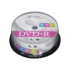 CD - DVD VIERGE XLayer 25 x DVD+R DL 8.5 Go 8x spindle