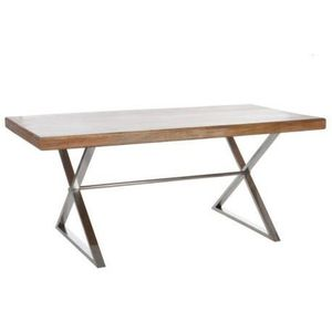 Table a manger metal bois achat vente table a manger for Table salle a manger bois metal