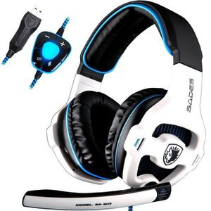 CASQUE AVEC MICROPHONE ANTCOOL(R) SA903 Gaming Headset Casque 7.1 USB Sur