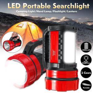TORCHE DE JARDIN Lampe Torche avec Feux de Côté Projecteur LED Rech