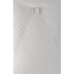 RECEVEUR DE DOUCHE Bac à douche 80x180x2,6 CM Rectangulaire Blanc Eff