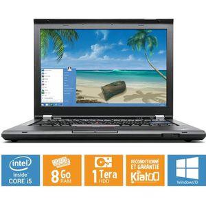 Achat PC Portable Ordinateur portable Lenovo Thinkpad t420  core i58go ram 1 to disque dur ,windows 10,pc portable reconditionné pas cher