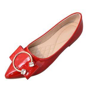 Pointu Chaussures printemps talon plat femmes Bout plates 08knPwO