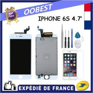 ECRAN DE TÉLÉPHONE VITRE TACTILE + ECRAN LCD POUR IPHONE 6S BLANC + O