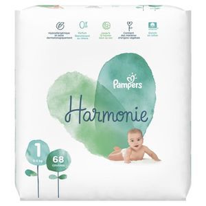 COUCHE PAMPERS Harmonie Taille1 - 2 à 5kg - 68couches