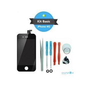 NETTOYAGE TÉLÉPHONE Kit Reparation Ecran iPhone 4 - Noir
