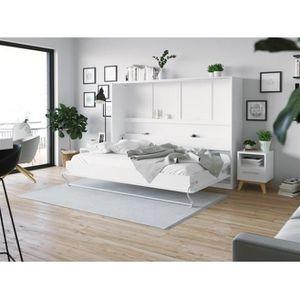 LIT ESCAMOTABLE SMARTBett Standard 140x200 horizontal blanc avec r