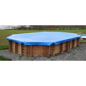 BÂCHE - COUVERTURE  SUNBAY Bâche hiver pour piscine carrée en bois Car
