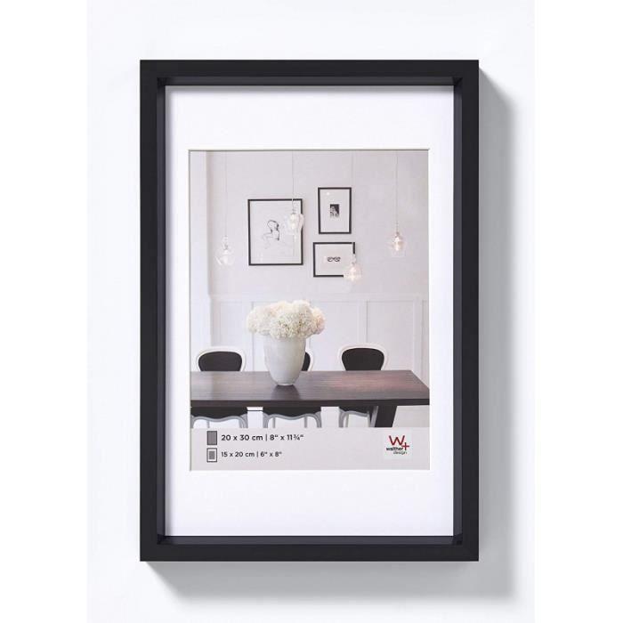 Cadres & pêle-mêle - Cadre photo imitation acier Steel Style - 30 x 40 cm - Noir