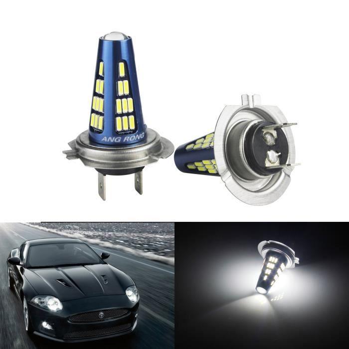 2x H7 48 SMD LED Ampoules 5W Blanc Xenon Anti Brouillard Feux de Jour DRL 9-30v