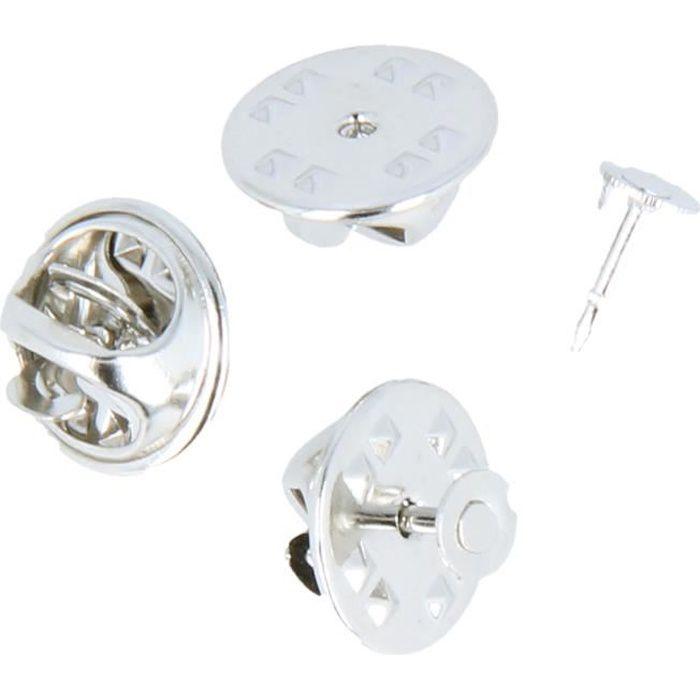 Attache Pin's 1cm 10 pièces - Artémio Argenté