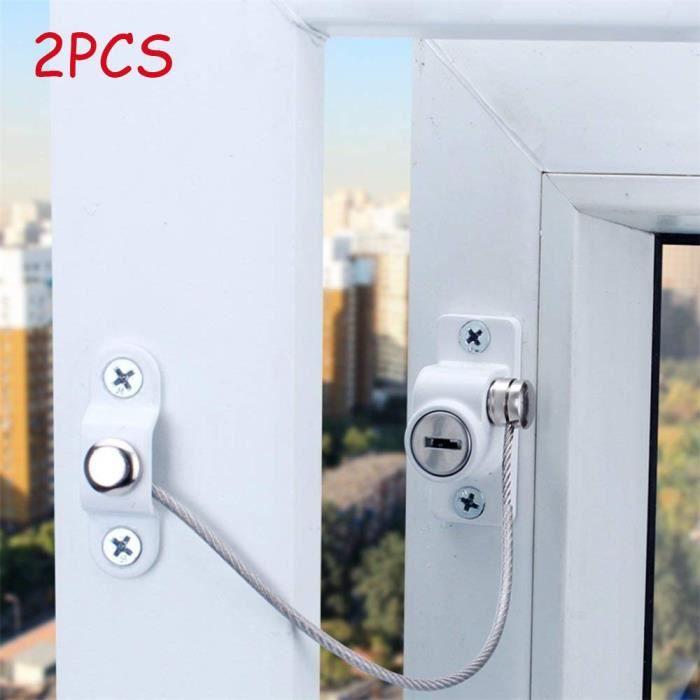 2pcs fenêtre porte restricteur sécurité verrouillage UPVC enfant bébé câble de sécurité Outils ménagers PIECE DETACHEE OUTIL A MAIN