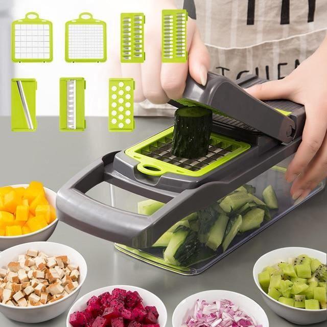 Mise à niveau multifonction coupe-légumes Gadgets de cuisine ail presse lame en acier pomme de terre éplucheur carotte râpe accessoi