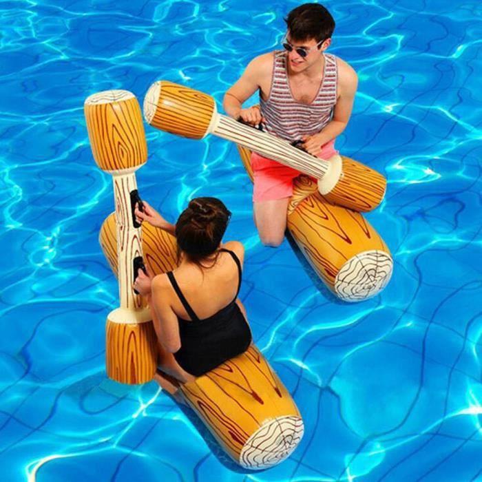 Bâton gonflable de bûche de bain à double battement gonflable en plein air piscine d'été_You*140