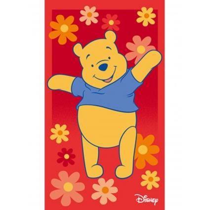 WINNIE L'OURSON HAPPY rouge 50x80, par Winnie, Tapis pour enfant