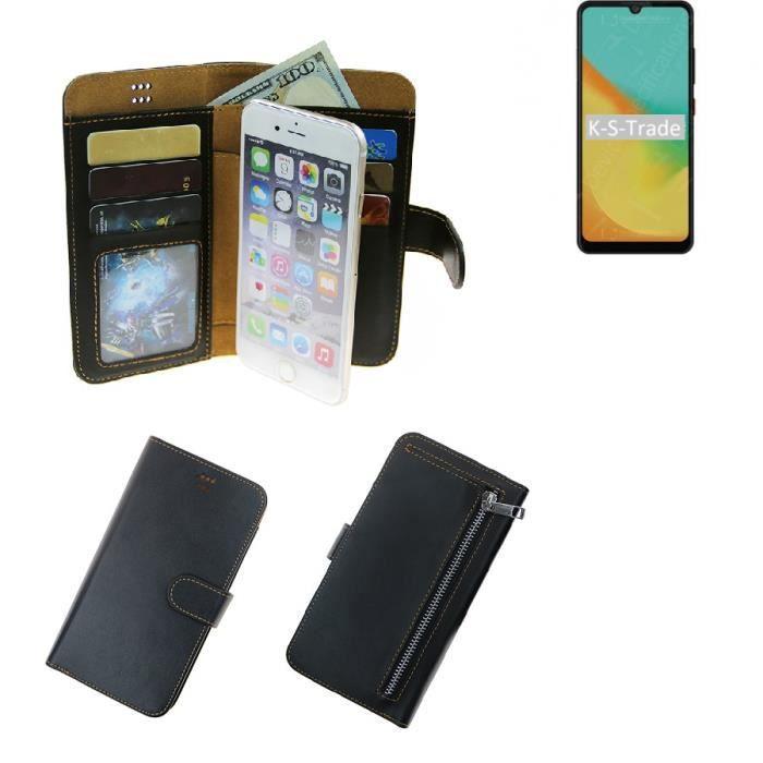 Pour ZTE Blade A7 Étui Portefeuille Poche Protecteur Housse Sacoche Cover noir pouchette de protection Smartphone coque - K- 259572