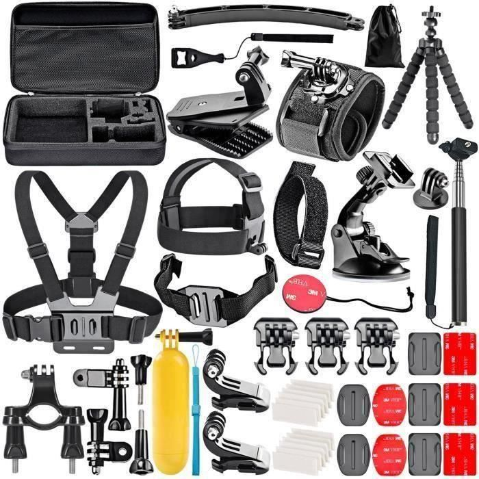 TONY 50-In-1 Action Camera Kit d'accessoires pour GoPro Hero Session - 5 Hero 1 2 3 3+ 4 5 6 SJ4000 5000 6000 DBPOWER AKASO