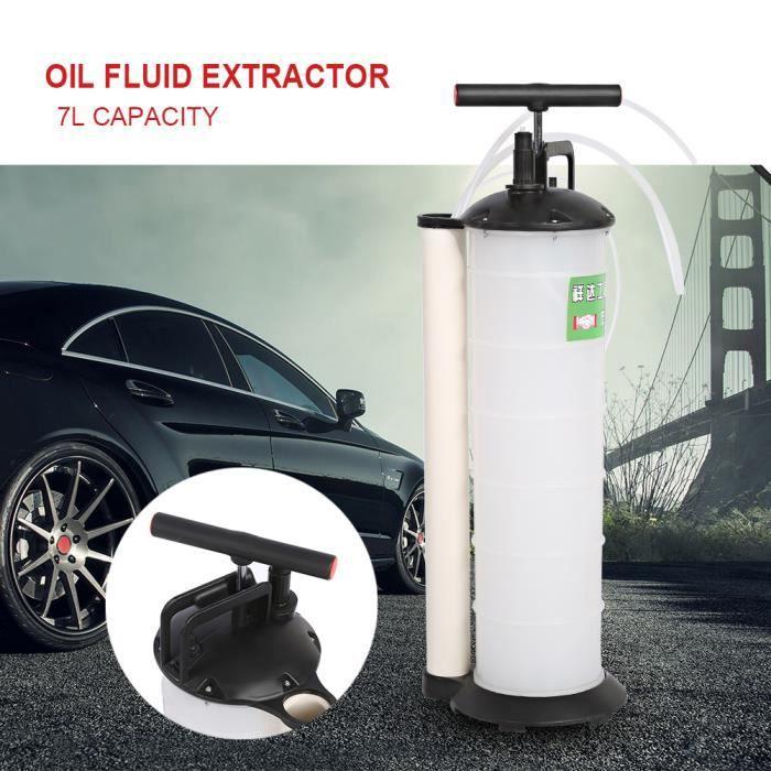 Pompe d aspiration de liquide vidange huile moteur 7L Kit de vidange moteur pompe aspiration huile liquide manuelle machine -RAI