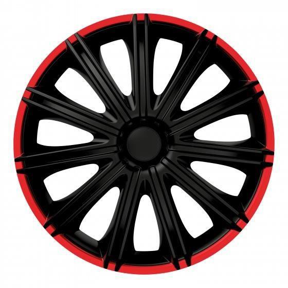 Carpoint enjoliveurs Nero 15 pouces ABS ensemble noir / rouge de 4