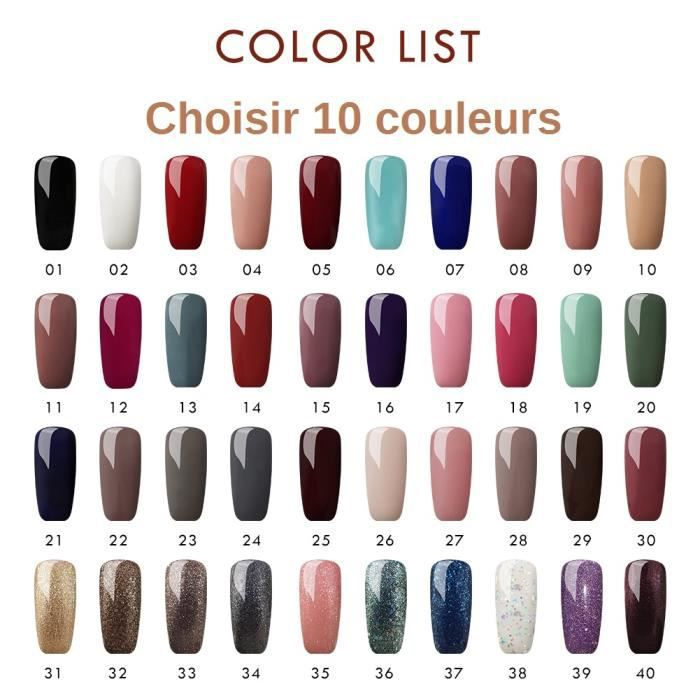 (Choisir 10 couleurs) Coscelia 10 pc Vernis Semi Permanent À Ongle Soak Off Gel Polish Uv Nail Art Kit Manucure 8ml