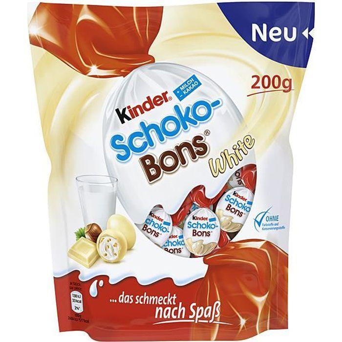 Ferrero Kinder Schoko Bons White (Blanc) Chocolate 200g (Pack de 3) Limited