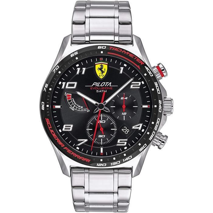 Ferrari-Montre Chronographe pour Hommes à movement Quartz en Acier inoxydable - 0830720