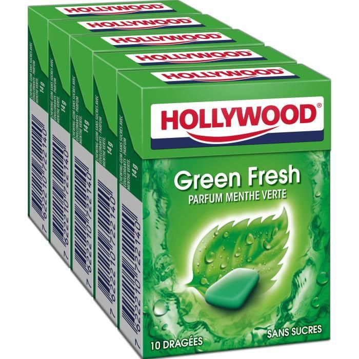 Hollywood GreenFresh chewing-gum menthe sans sucres 70g