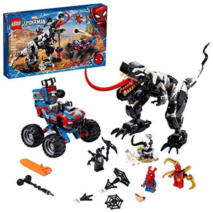 Jeu D'Assemblage VHKXW Marvel SpiderMan Venomosaurus Ambush 76151 Jouet de construction avec figurines de super-héros Cadeau de vac