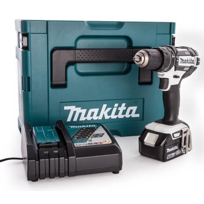 Makita Batterie coup électrique dhp484rtj 18 V 2 batteries 5,0ah Chargeur MAKPAC