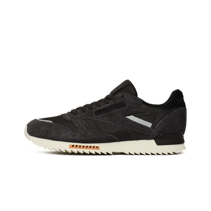 REEBOK Baskets Classic Leather Ripple Sn - Homme - Noir