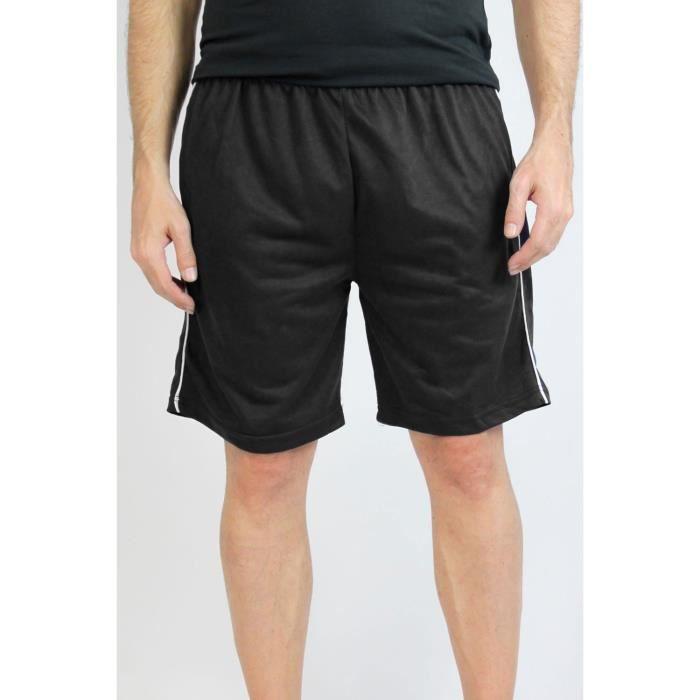 Short de sport Homme Noir