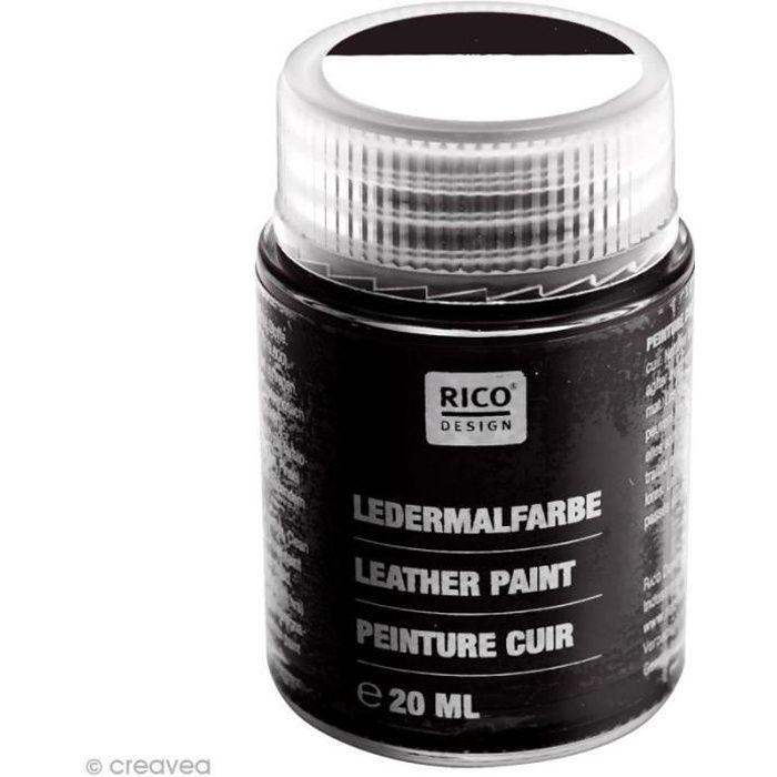 Peinture cuir - 20 ml Noir