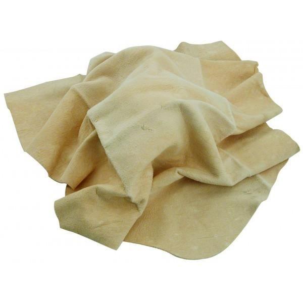 Peau de chamois (chamoisée) 100% naturel 26 x 37 cm