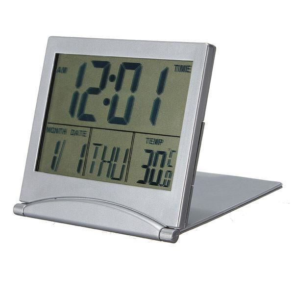 horloge de bureau date du calendrier digital alarm celsius fahrenheit thermom achat vente. Black Bedroom Furniture Sets. Home Design Ideas